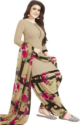 Fashion Valley Crepe Floral Print Salwar Suit Material(Unstitched)