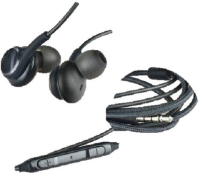 stacy Headphone Wired Headset with Mic (Black, In the Ear) Wired Headset(Black, Wired in the ear)