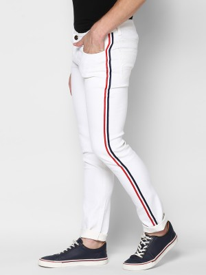 Urbano Fashion Slim Men White Jeans