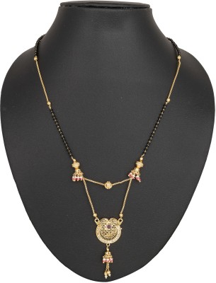 SIDDHI Siddhi Beautiful 2layer Pink Drop Mangalsutra SMS-134 Brass Mangalsutra