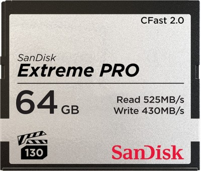 SanDisk Extreme Pro 64 Compact Flash Class 10 525 Mbps Memory Card SanDisk Memory Cards