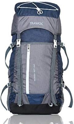 TRAWOC SHK8-N BLUE-Trekking Bag Hiking Backpack Travel Rucksack  - 55 L(Blue, Black)