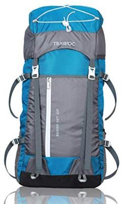 TRAWOC SHK8-BLUE-Trekking Bag Hiking Backpack Travel Rucksack  - 55 L(Blue)