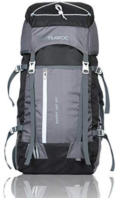 TRAWOC SHK8-GREY-Trekking Bag Hiking Backpack Travel Rucksack  - 55 L(Grey)
