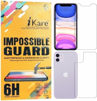 iKare Front and Back Screen Guard for Apple iPhone 11(Pack of 2)