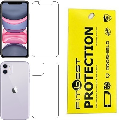 Fitbest Front and Back Screen Guard for Apple iphone 11(Pack of 1)