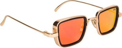 Farenheit Rectangular Sunglasses(Red)