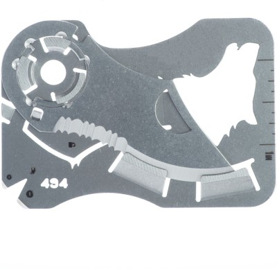 Happy2Buy Foldable Credit Card Shape Hyper wallet wild knife (Pack of 1) 6 Function Multi Utility Swiss Knife(Silver)