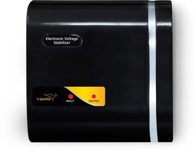 V-Guard CRYSTAL NANO for 70 cm (28) TV+Set topbox (Working Range: 90-280V; Upto 1 Amps) Electronic Voltage Stabilizer(Black)