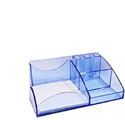 KNAFS 6 Compartments plastic pen stand(multyi)