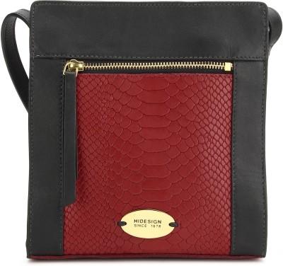 Hidesign Women Red, Black Sling Bag