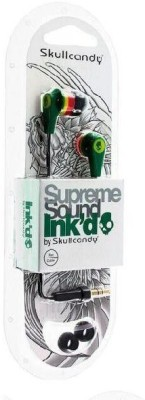 Skullcandy Ink'd Headset with mic (rainbow In the Ear) Wired Headset with Mic