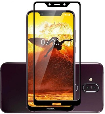 Legacy Edge To Edge Tempered Glass for Nokia 8.1 11D Tailor made with perfect edges, Orginal, Custom made, bubble Free(Pack of 1)