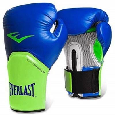 Everlast Elite Pro Style Training Boxing Gloves (10oz, Blue/Green) Medium Boxing Gloves(Blue_Green)