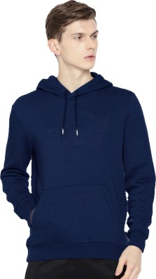 Adam White Full Sleeve Solid Men Sweatshirt