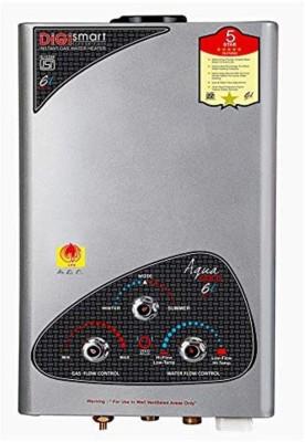 DIGISMART 6 L Gas Water Geyser (AQUA GOLD, Grey)
