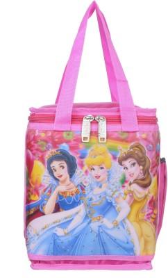 Naaz Waterproof Polyester 3D Printed School Lunch/Tiffin Bag (Pink) Waterproof Lunch Bag(Pink, 8 L)