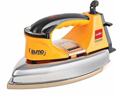 Cello Plug and Press Sumo Heavy Weight Iron, Yellow, 1000 W 1000 W Dry Iron(Yellow)