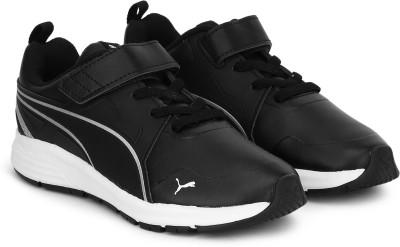 PUMA Boys   Girls Velcro Sneakers Black PUMA Casual Shoes