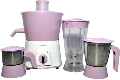 Philips juicer mixer grinder 7581 2 year complete 5 year motor warranty 600 Juicer Mixer Grinder(Pink, 3 Jars)