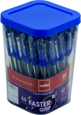 cello Faster Grip Ball Pen(Pack of 60, Multicolor)