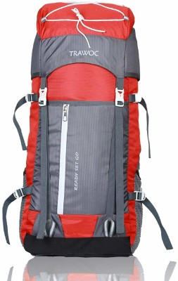 TRAWOC SHK8-RED-Trekking Bag Hiking Backpack Travel Rucksack  - 55 L(Red)