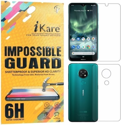 iKare Front and Back Screen Guard for Nokia 7.2(Pack of 2)