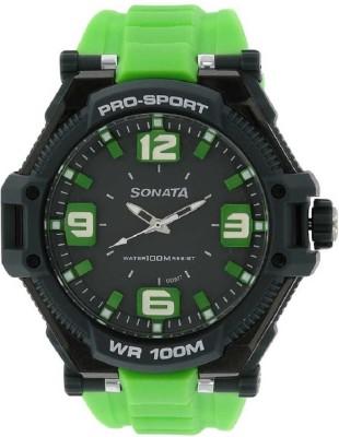SONATA NH77029PP02J Superfibre Analog Watch   For Men SONATA Wrist Watches