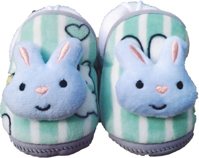 Mom And Son Booties(Toe to Heel Length - 11 cm, Sky-Blue)