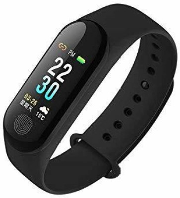 Kiddu Collection Bluetooth Wrist Smart Band Watch (Black)(Black Strap, Size : 8)