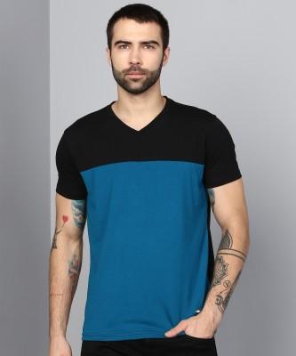 Metronaut Solid Men V Neck Multicolor T-Shirt