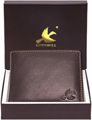 Hornbull Men Brown Genuine Leather Wallet(6 Card Slots)