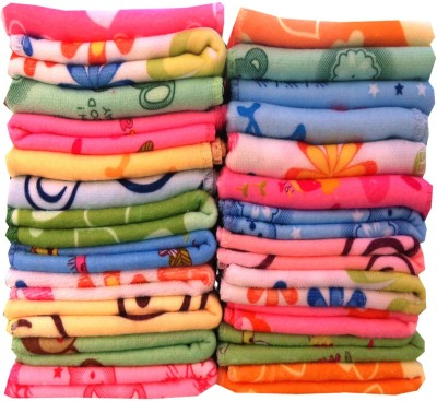 Fastoche Cotton 350 GSM Face Towel Set(Pack of 20)