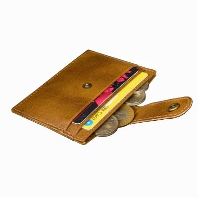 MATSS Men Wallet || Travel Document Holder || Card Holder 6 Card Holder(Set of 1, Tan)