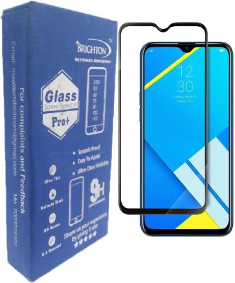 BRIGHTRON Edge To Edge Tempered Glass for Premium Quality Screen Guard For Oppo Realme C2 Tempered Glass Full EdgeTo Edge Screen Protector With Full Installation Kit (Pack Of 1, Oppo Realme C2)(Pack of 1)
