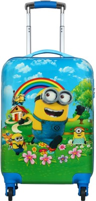 Tramp   Badger Minions Printed Expandable Cabin Luggage   20 inch Multicolor