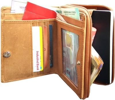 MATSS Men Wallet||Travel Document Holder||Card Holder 3 Card Holder(Set of 1, Tan)