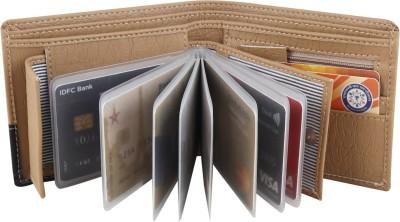 Billion Men Beige Artificial Leather Wallet(10 Card Slots)