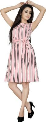 VASTRA SOUNDARYA Women Pleated Pink Dress