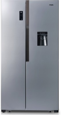 MarQ by Flipkart 560 L Frost Free Side by Side Refrigerator  with Water Dispenser(Silver, Grey, SBS-560W)