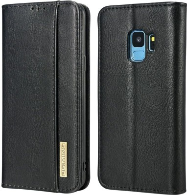 Dg Ming Flip Cover for Samsung Galaxy S9(Black, Dual Protection)