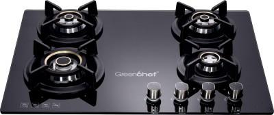 Greenchef GHT HoB Automatic 4 Burner Gas Stove Glass Automatic Hob(4 Burners)