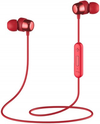Havit i39 Bluetooth Neckband 5.0, IPX5 Sweatproof Wireless Headphones Bluetooth Headset with Mic(Red, In the Ear)