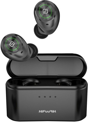 HiFuture TidyBudsPro, True Wireless Bluetooth Headset with 100H Playback Bluetooth Headset with Mic(Black, In the Ear)