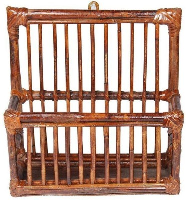 IRA Rattan Wall Magazine Rack Wall Hanging Magazine Holder(Brown, Bamboo)