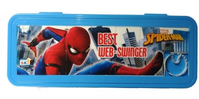 SKi 08 Blue Color Spider-man Art Plastic Pencil Box(Set of 4, Blue, Multicolor)