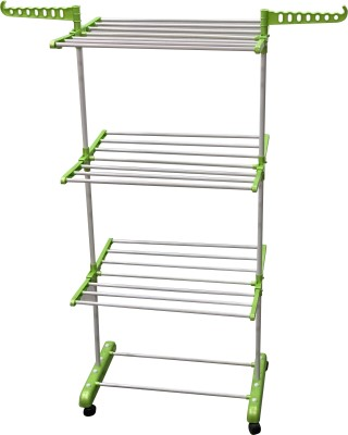 FAVOUR Steel Floor Cloth Dryer Stand O1MSNEW006(3 Tier)