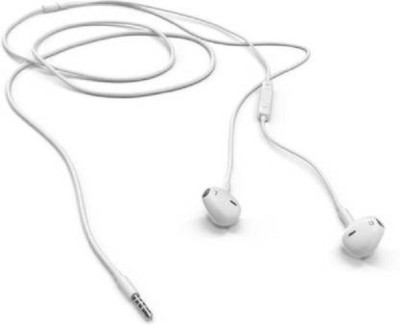 stacy best selling top earphonne with mic Wired Wired Headset(White, Wired in the ear)