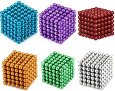 PSYCHE Magnetic Balls (3 mm 1296 Balls) Stress Relief Educational Toys (Six Colors)(1296 Pieces)