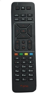 Airtel Airtel Universal Remote Universal Remote with battery Remote Controller(Black)